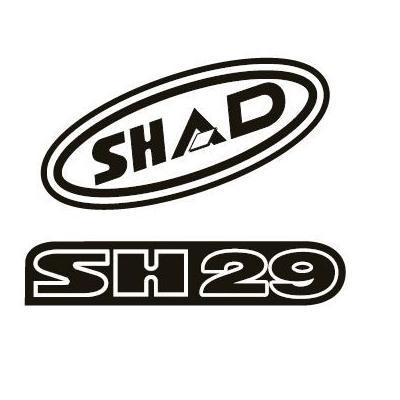 Kit autocollant Shad pour top case SH29 rouge