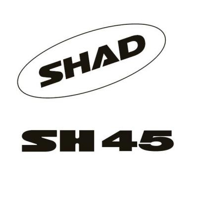 Kit autocollant Shad pour top case SH45 blanc