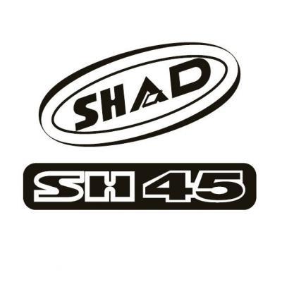 Kit autocollant Shad pour top case SH45 rouge