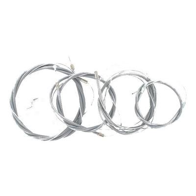 Kit câbles complet avec gaines grise pour Solex 5000 / 3800 Hongrois