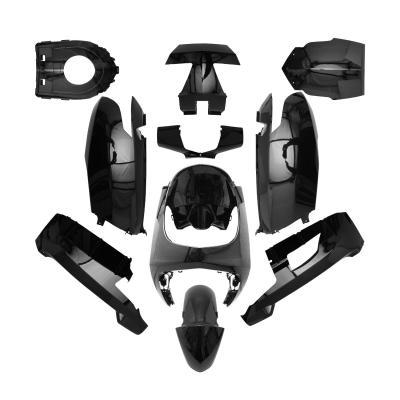 Kit carénages Peugeot 50 Vivacity 3 08- noir brillant