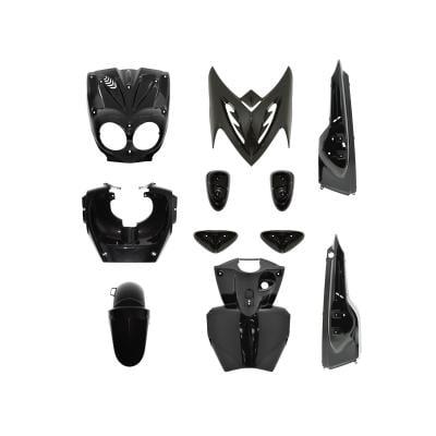 Kit carrosserie 11 pièces noir avec pads noir adaptable Stunt/Slider