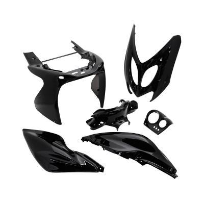 Kit carrosserie 6 pièces noir brillant adaptable Nitro/Aerox