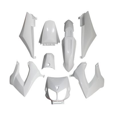 Kit carrosserie 8 pièces blanc brillant adaptable Senda drd x-treme/X-race
