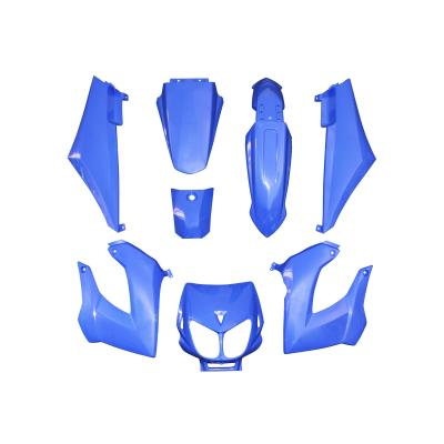 Kit carrosserie 8 pièces bleu brillant adaptable senda drd x-treme/x-race