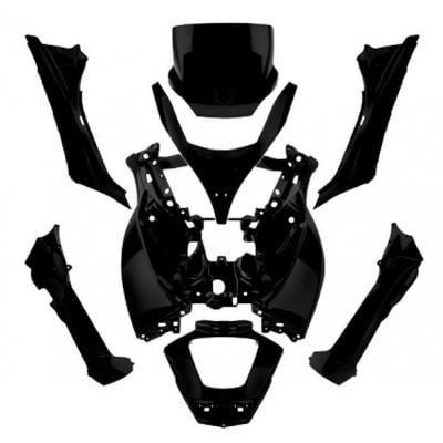 Kit carrosserie 8 pièces noires mat pour Piaggio MP3 500 11-13