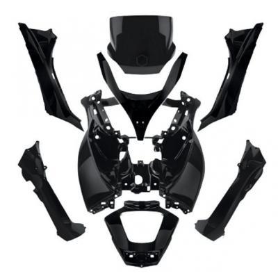 Kit carrosserie 8 pièces noires pour Piaggio MP3 500 11-13