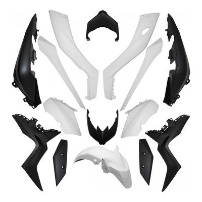 Kit carrosserie blanc brillant pour Yamaha 125-300-400 X-max 18-