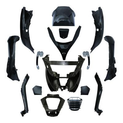 Kit carrosserie noir brillant pour Piaggio 125-250-300-400-500 MP3 08-14