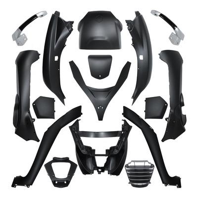 Kit carrosserie noir mat pour Piaggio 125-250-300-400-500 MP3 08-14