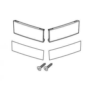 Kit catadioptre Shad pour valises latérales SH23 blanc