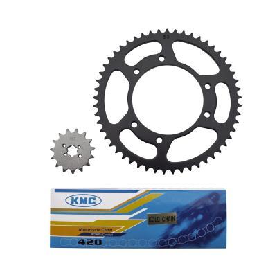 Kit chaîne 1Tek pas 420 15x53 alésage 105 mm adaptable senda 2000>