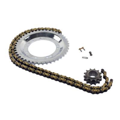 Kit chaîne acier mbk 12X44 pas 415 src Or