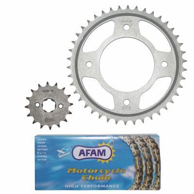 Kit chaîne Afam 16x42 Honda 125 CBF 09-