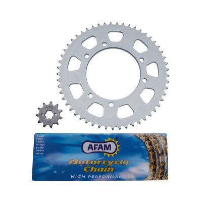 Kit chaîne Afam pas 420 11x53 alésage 105 mm adaptable senda 2000>