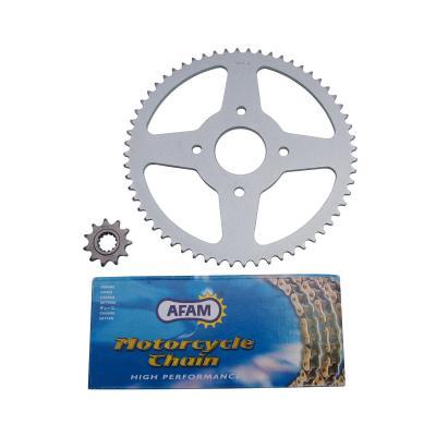 Kit chaîne Afam pas 420 11x60 démultiplication d'origine adaptable Xpower/TZR 2007>2011