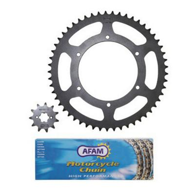 Kit chaîne Afam pas 420 12X53 Derbi Senda Sm Drd / Racing / Evo / Gpr