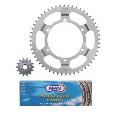 Kit chaîne Afam pas 420 14X52 Derbi GPR 00-03
