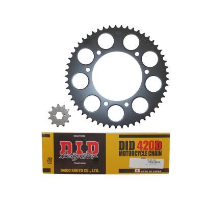 Kit chaîne DID acier Derbi 50 Senda X-Treme/ X-Race 06-