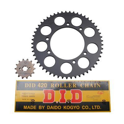 Kit chaîne DID acier Derbi 50 SM1/ X Treme/ X-Race 00-05