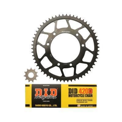 Kit chaîne DID acier Yamaha DTR 50 SM 07-