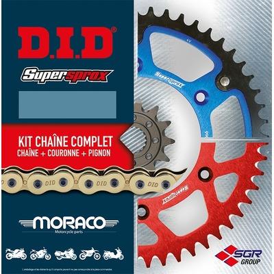 Kit chaîne DID type VX2 noir et or couronne 52 dents attache rapide pour KTM EXC 250 Enduro 98-06