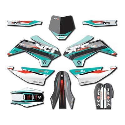 Kit déco 2021 YCF Pilot SP2 à partir de 2017 turquoise/blanc/noir