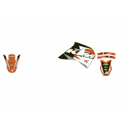 Kit déco Blackbird Dream Graphic 3 KTM 620 LC4 96-99 orange