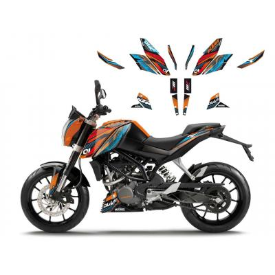 Kit déco Blackbird Onerace KTM 390 Duke 13-16
