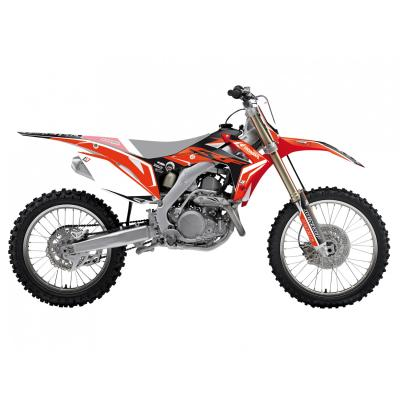 Kit déco Blackbird Racing Dream 4 Honda CRF 250R 14-17 noir/rouge