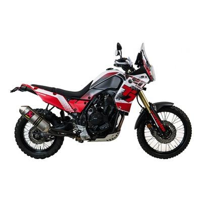 Kit déco complet Uniracing Yamaha Ténéré 700 19-21 blanc/rouge