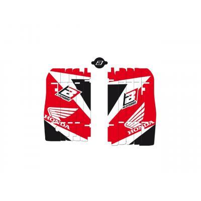 Kit déco de cache radiateur Blackbird Honda CRF 250R 10-13 rouge/blanc