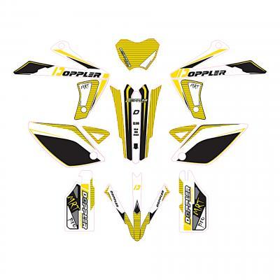 Kit déco Doppler Rieju MRT blanc / noir / jaune