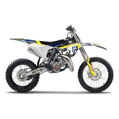 Kit déco + housse de selle Blackbird Dream 4 Husqvarna 85 TC 18-21 bleu/jaune