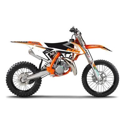 Kit déco + housse de selle Blackbird Dream 4 KTM 85 SX 18-21 orange/noir
