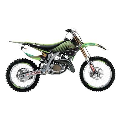 Kit déco + housse de selle Blackbird Racing Replica KRT 2019 Kawasaki 250 KX 03-08 vert/noir
