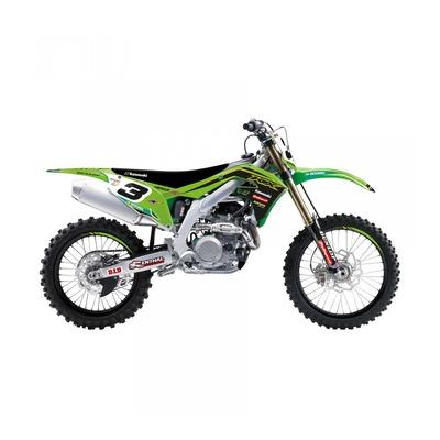 Kit déco + housse de selle Blackbird Racing Replica KRT 2020 Kawasaki 450 KX-F 19-21 vert/noir