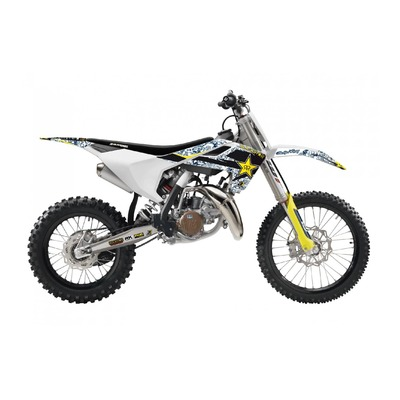 Kit déco + housse de selle Blackbird Rockstar Husqvarna 85 TC 18-21 bleu/blanc
