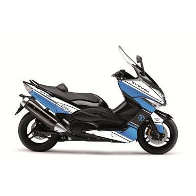Kit déco Kutvek Cooper blanc/bleu Yamaha T-Max 500