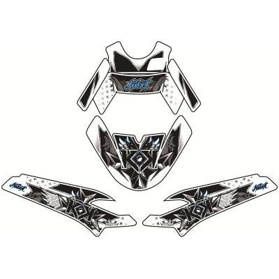 Kit déco Kutvek Demon bleu MBK Booster