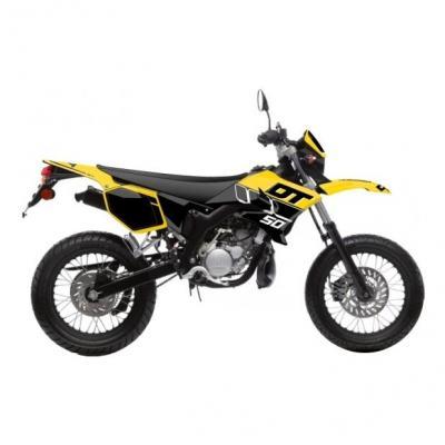 Kit déco Kutvek Vintage MBK Xlimit / Yamaha DT 07-11 jaune