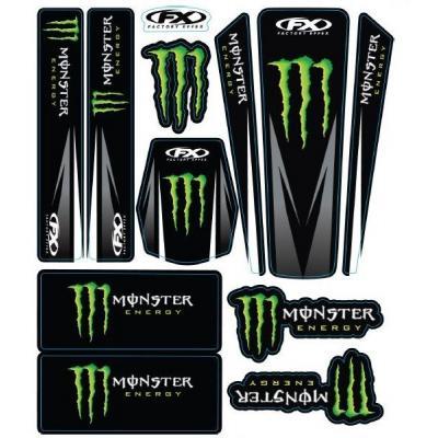 Kit déco Monster autocollant 12 pièces FX Factory Effect
