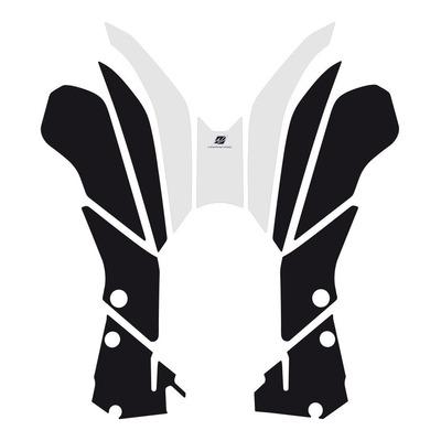 Kit déco protection Uniracing de réservoir Yamaha Ténéré 700 19-21 blanc/rouge