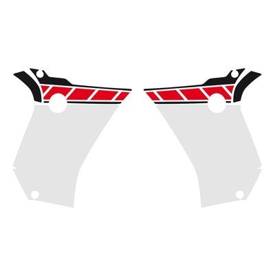 Kit déco protection Uniracing ouïes de réservoir Yamaha Ténéré 700 19-21 blanc/rouge