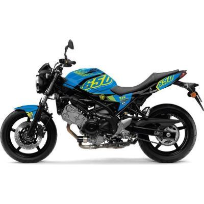 Kit déco Up Maximize bleu / jaune Suzuki SV 650 08-16