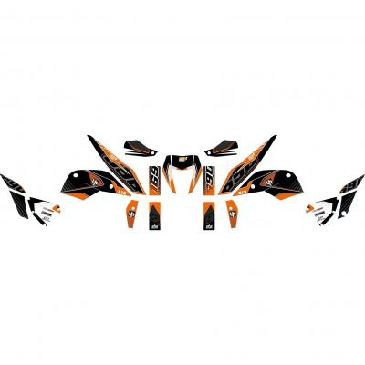 Kit déco Up Maximize noir / orange KTM Duke 690 10-15