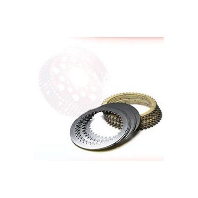 Kit disque garnis+lisses pour cloche stm 48 dents pour ducati