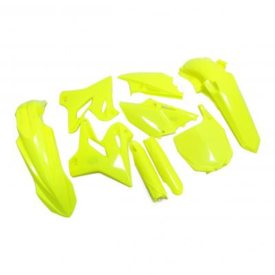 Kit plastique complet Polisport Yamaha 125 YZ 15-21 jaune fluo