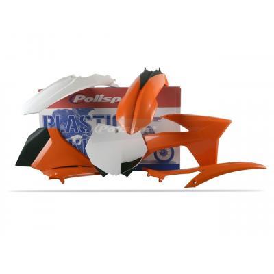 Kit plastique Polisport KTM 450 SX-F 2012 (orange/blanc/noir origine)