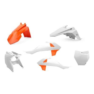 Kit plastique Polisport KTM 65 SX 16-21 orange/blanc (couleur origine)